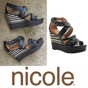 Nicole Danica Wedge Sandals